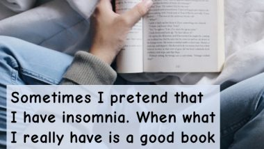 Insomnia Vs. a Good Book to Read