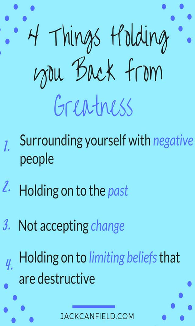 Jack Canfield on Greatness - It's all about what's holding you back from YOUR greatness. Don't let anything hold you back from being great!