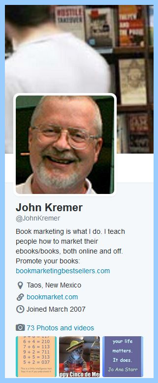 John Kremer, the Book Marketing Expert, on Twitter