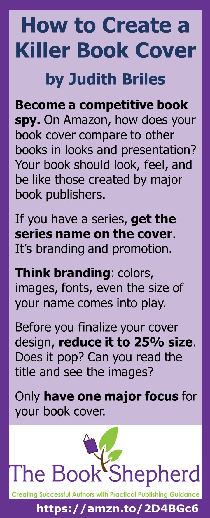 Judith Briles on How to Create Killer Book Covers. Remember: Killer book covers sell books, lots more books!