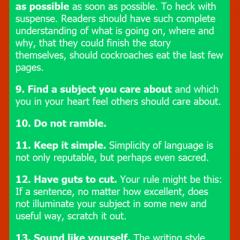 Kurt Vonnegut on Writing Fiction