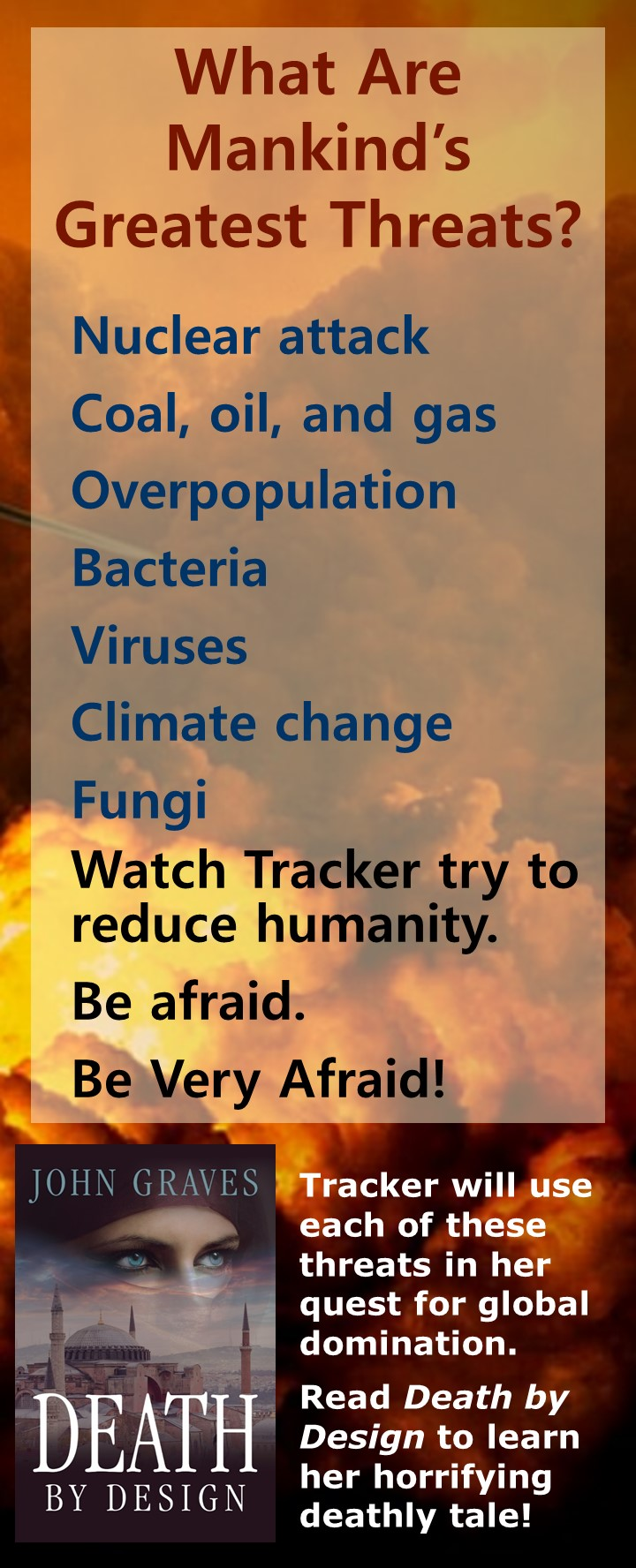 Novel Tip-o-Graphic: Mankind's Greatest Threats