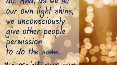 Marianne Williamson on Shining