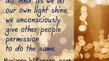 Marianne Williamson on Shining