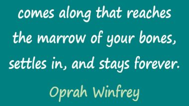 Oprah Winfrey on Great BOoks