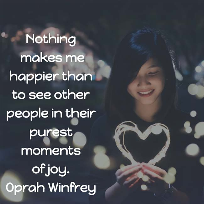 Oprah Winfrey on Joy