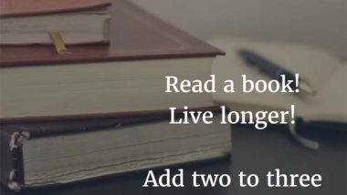 Read a book; live longer.