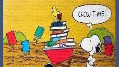 Snoopy - Books Are Food