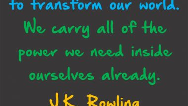 J K Rowling on Magic