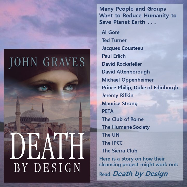 John Graves, author of Death by Design, the first thriller in The Tracker Series, has a wonderful mind for exciting interest in his ecothriller by creating targeted lists via tip-o-graphics.