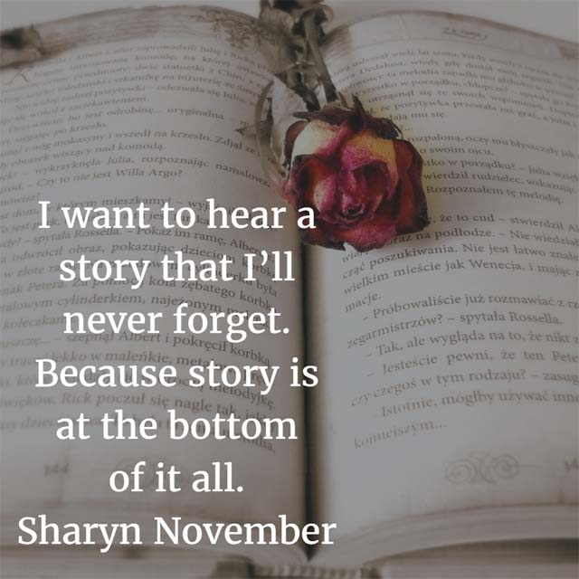 Sharyn November on Stories
