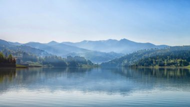 Incredible mountain lake photo