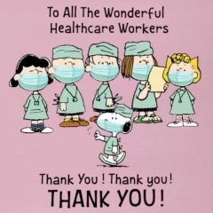Snoopy Healthcare Workers