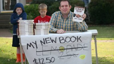 So What Do You Do? lemonade stand for selling books