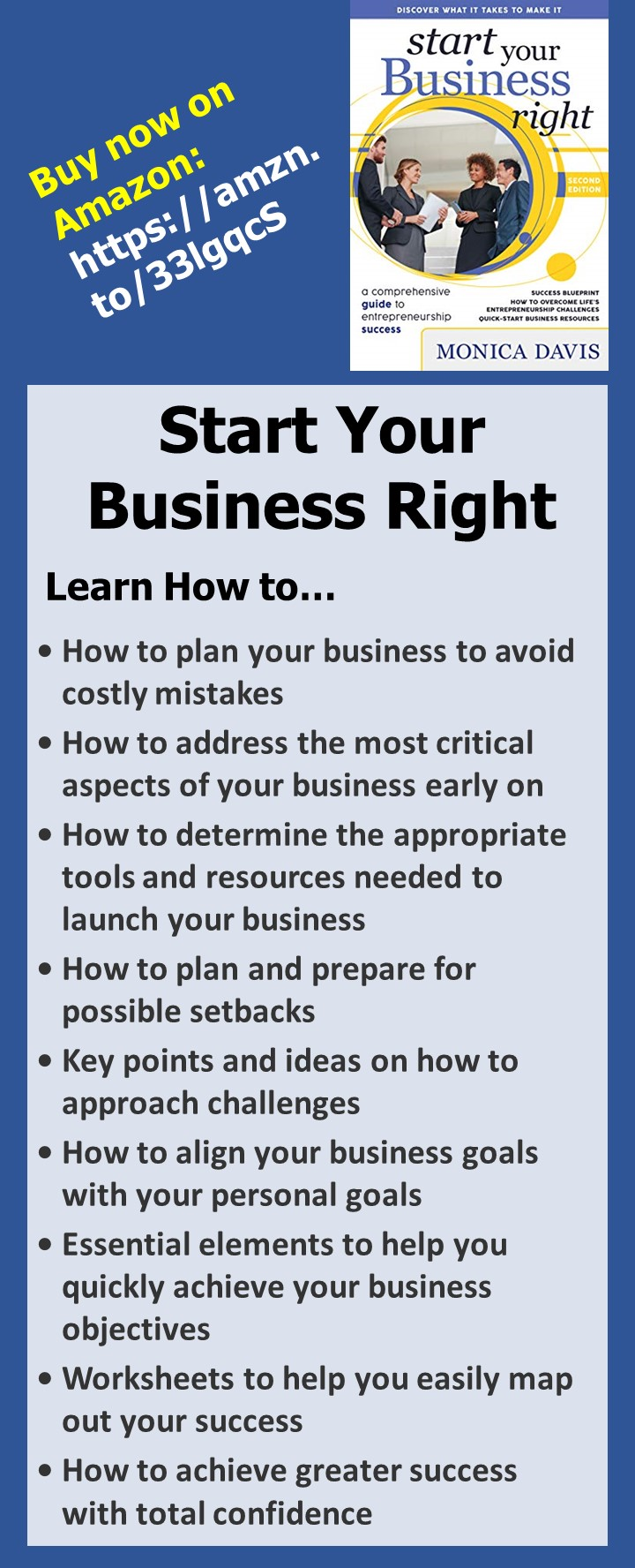 Start Your Business Right by Monica Davis