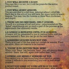 The Rules of Being Human as applied to book authors