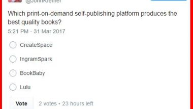 Twitter Self-Publishing Poll