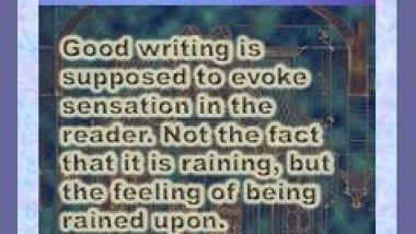 Writing Bookmark: First Draft