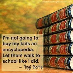 Yogi Berra on Walking to School