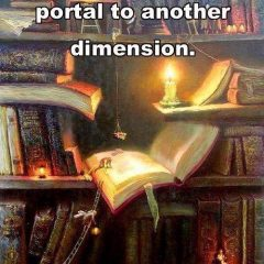 a book is a magic portal to another dimension