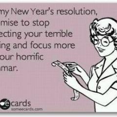 Grammar New Year's Resolution