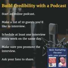 build credibility with a podcast