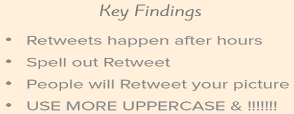 Key Finding on Getting More Retweets