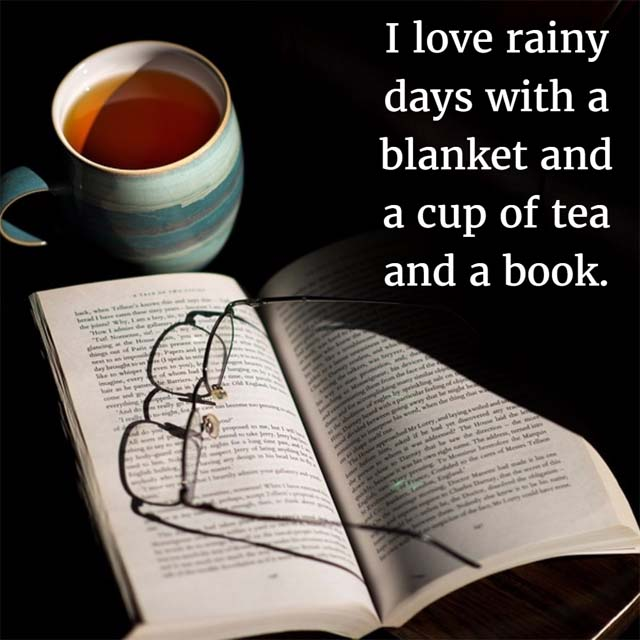 Tea and Books and a Great Blanket: I love rainy days with a blanket and a cup of tea and a book!